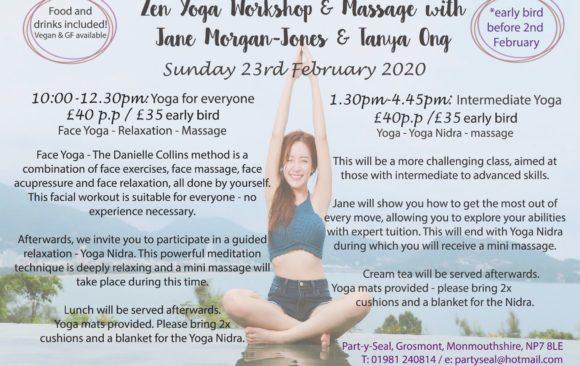 Zen Yoga Workshop & Massage Sunday 23rd February 2020
